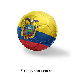 Ecuadoran Football - Football ball with the national flag of...