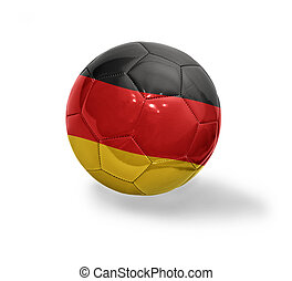 German Football - Football ball with the national flag of...
