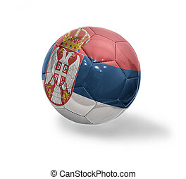 Serbian Football - Football ball with the national flag of...