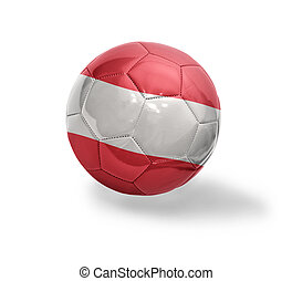 Austrian Football - Football ball with the national flag of...