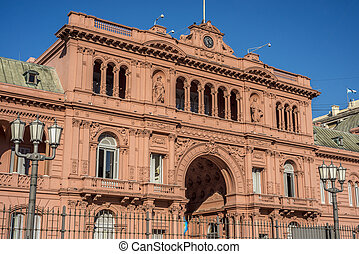 Casa Rosada building in Buenos Aires, Argentina - Casa...