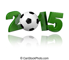 Football 2015 design with a white background