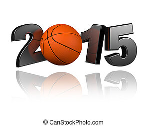 Basketball 2015 design with a White Background