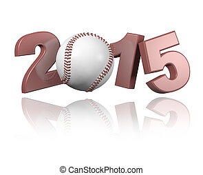 Baseball 2015 design with a white Background