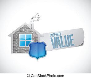 property value sign illustration design