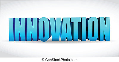 innovation text illustration design over a white background