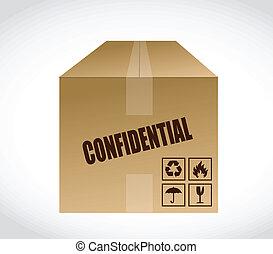 confidential box illustration design