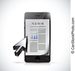 phone business news illustration