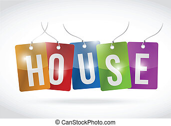house tags illustration design
