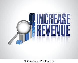 increase revenue business sign illustration