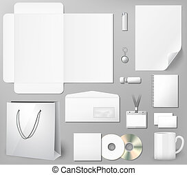 Blank corporate identity template, photo realistic vector...
