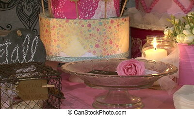Biscuits Flowers and Candles 02 - A set with chocolate...