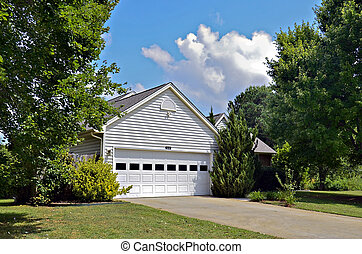 Garage on a House