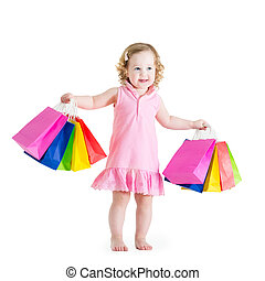 Adorable little girl after sale - Adorable little girl with...