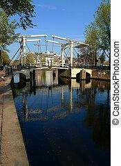 Niewe Herengracht bridge and Amstel, Amsterdam, Netherlands