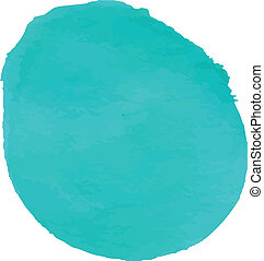 Turquoise watercolor for web design background. Vector...