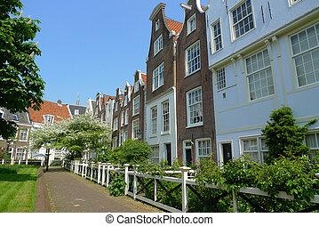 Begijnhof - Houses in the Begijnhof court, Amsterdam,...