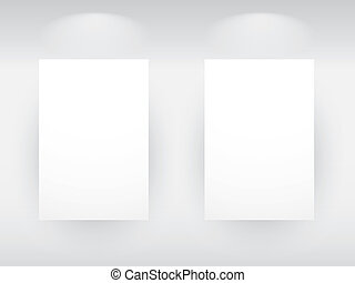 Illustration of a Beauty Gallery Interior with empty frames
