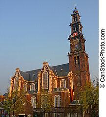 Westerkerk Amsterdam - Western church (Westerkerk) at...