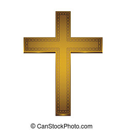 golden cross - This is an illustration of a golden cross