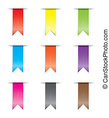 Illustration of a coloured ribbon set - An Illustration of a...