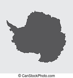 Illustration on isolated background of the continent of...