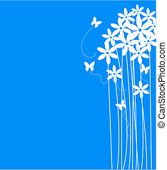 Flowers Pattern - Vector illustration stylized abstract...