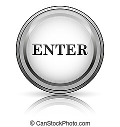 Enter icon Internet button on white background