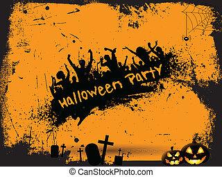 Grunge Halloween party background - Grunge style Halloween...