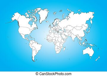 World map illustration isolated on clean background - A...