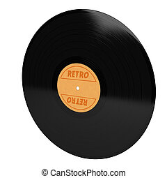 vinyl with retro sign