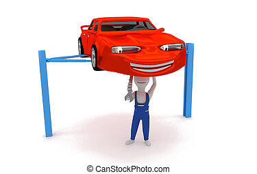 auto mechanic - engine repair