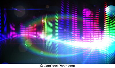 Colourful pixel design of music - Digital animation of...