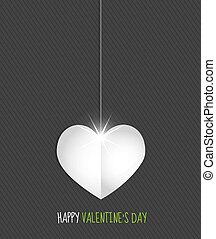 happy valentines day heart card