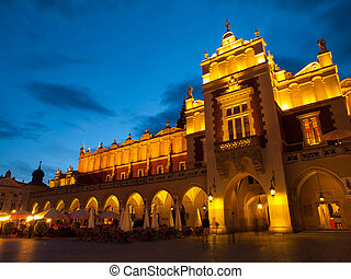 Sukiennice by night - Sukiennice (Cloth Hall) on Main Square...