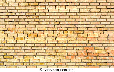 Brick wall - Yellow red brick wall background Many old...