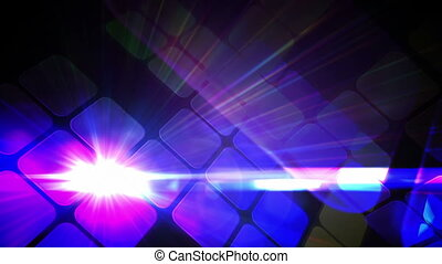 Tile pattern with glowing lights