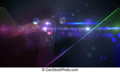 Colourful abstract glowing design - Digital animation of...