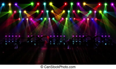 Nightclub with light show