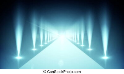 Digital blue walkway - Digital animation of Digital blue...