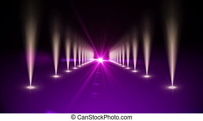 Purple digital walkway - Digital animation of Purple digital...