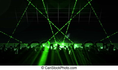 Nightclub with laser show