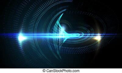 Blue pixel wave design