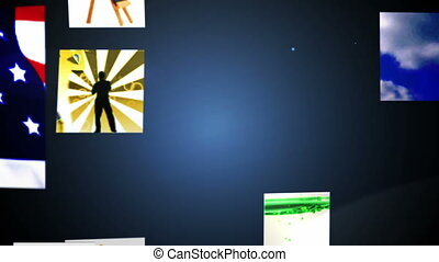 Video clips forming hd message - Digital animation of Video...