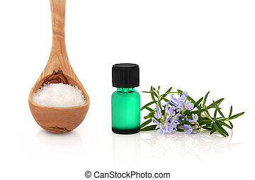 Rosemary Herb and Sea Salt Therapy - Rosemary herb leaf...
