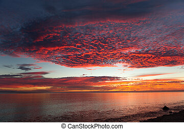 sunrise over the Sea of Cortez in Baja California, Mexico