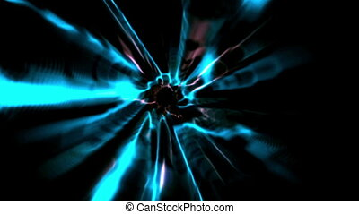 Blue vortex design on black - Digital animation of Blue...