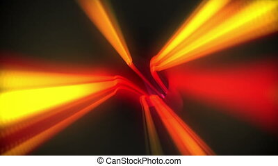 Red vortex design on black - Digital animation of Red vortex...