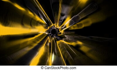 Colourful vortex design on black - Digital animation of...