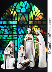 Church Nativity Scene